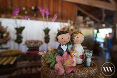 Noivinhos pintados pela prima da noiva - Casamento Tássia e Kiko