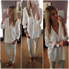 White shirt Spring Outfits, Spring Summer, Coat, How To Wear, Jackets, Shirts, Clothes, Fashion, Down Jackets