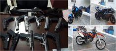 Ministerio de Defensa incauta escopeta y motos de alto cilindraje en Bonao
