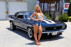 It's a Chevy thing. Enjoy this album of girls and their chevy. Chevrolet Camaro 1969, Camaro Rs, Sexy Cars, Hot Cars, Chevy Girl, Lamborghini Miura, American Muscle Cars, Car Girls, Classic Cars