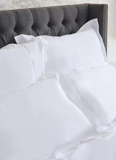 Blarney Irish Linen Pillowcases Set of The most luxurious bedding fabric there is - Irish linen. Transform your bedroom with our crisp, white, real Irish linen bed set. Made in Ireland, our Blarney Irish Linen pillowcases are of the finest quality. Linen Bed Sheets, Bed Linen Sets, Linen Bedding, Pillowcases, Luxury Bedding, Crisp, Ireland, Bedroom Decor, Fabric