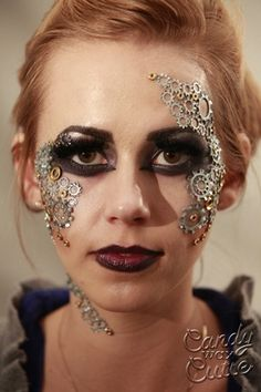 Easy to do this steampunk makeup! We have the gears, spirit gum and prosthetic adhesive you need to create this look!