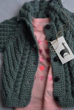 Baby strickjacke aus 100% Alpaka Wolle