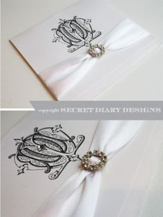 Monogram wedding invitations by Secret Diary Designs  www.secretdiary.co.za