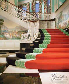 The Greenbrier Hotel - White Sulpher Springs, West Virginia Designer:  Dorothy Draper/Carleton Varney