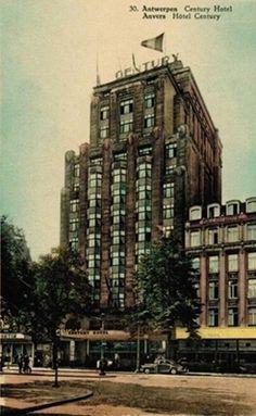 Retroscoop - Standingvol Art Deco-icoon in Antwerpen: Het Century Hotel aan de Keyserlei | photo credit: unknown, please contace me if you are the copyright holder, found on the website: www.retroscoop.com