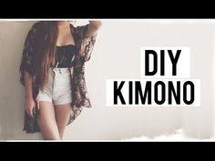 HAZ UN KIMONO EN MINUTOS! DIY ♡ | Danielalala - YouTube