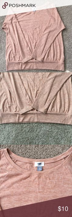 Women's Old Navy L/S Top Worn a small handful of times. The color is poor with my completion. Cute fit! Slight pilling under the arms/chest area. See pics. Color is hard to describe! Pink-ish/Cream-ish/Tan like. NOT brown or tan but not pink either. Old Navy Tops Tees - Long Sleeve