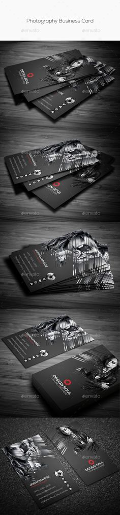 Photography Business Card - Creative #Business Cards Download here:   https://graphicriver.net/item/photography-business-card/10438153?ref=Suz_562geid