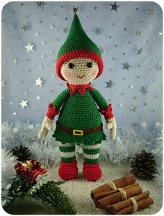Mesmerizing Crochet an Amigurumi Rabbit Ideas. Lovely Crochet an Amigurumi Rabbit Ideas. Christmas Crochet Patterns, Crochet Christmas Ornaments, Holiday Crochet, Christmas Sewing, Crochet Toys Patterns, Christmas Toys, Amigurumi Patterns, Stuffed Toys Patterns, Crochet Crafts