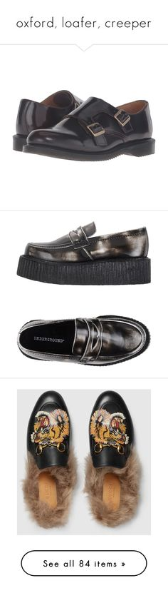 """""""oxford, loafer, creeper"""" by brigi-bodoki ❤ liked on Polyvore featuring shoes, polish leather shoes, polish shoes, shiny leather shoes, adjustable shoes, flexible shoes, loafers, dark brown, rubber sole shoes and round cap"""