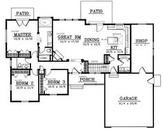 Plan No.236018 House Plans by WestHomePlanners.com under1600 *****