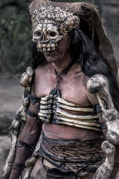 One of the performers during ancient Maya dance show in Xcaret park, Mexico