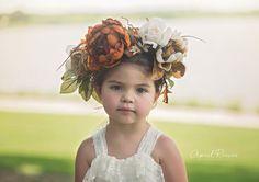 Rustic Flower Crown Flower Girl Crown Floral by FlowerGirlsCouture