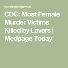 CDC: Most Female Mur