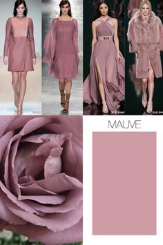 F/W 2015-16, women's ready to wear color, mauve