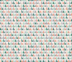 Pastel Triangles fabric by mewack on Spoonflower - custom fabric