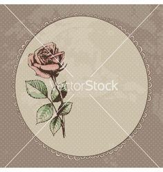 Vintage roses background vector on VectorStock®