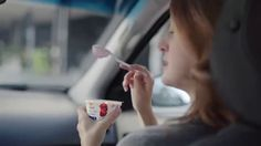 AbanCommercials: Yoplait TV Commercial  • Yoplait advertsiment  • Greek 100 Protein -  2 Girls In Car Start And Stop, It's So Proteiny • Yoplait Greek 100 Protein -  2 Girls In Car Start And Stop, It's So Proteiny TV commercial • With At Least 14 grams Of Protein And Only 100 Calories