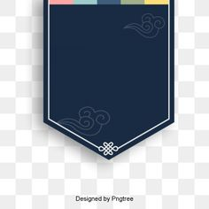 Korean traditional patterns retro border PNG and PSD
