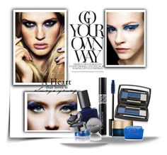 """""""True Blue: Cool Eyeshadow"""" by going-to-be-famous ❤ liked on Polyvore featuring Belleza, Christian Dior, RGB Cosmetics, Lancôme, Stila, Marc by Marc Jacobs, Lise Watier, eyeshadow, cool y Blue"""