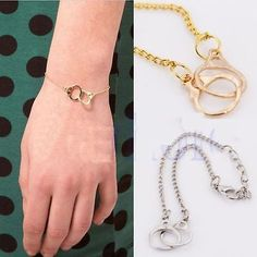 #Charming fashion delicate golden silver #alloy #handcuffs bracelet 2 colors slav,  View more on the LINK: 	http://www.zeppy.io/product/gb/2/301587739650/