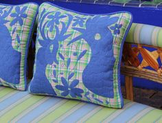 Beautiful blue on green and pink plaid hand embroidered Otomi Sham Sca – Casa Otomi Mexico, Tenango, wedding, textile, mexican suzani, embroidery, hand embroidered, otomi, fiber art, mexican, handmade,  casa, decor, interior, frida, kahlo, folk,  folk art, house, home, puebla, las flores, cushion, serape, preppy, gingham, polka dots, pink, lime, green, lily pulitizer, pouf, elle decor, boho, style, bestey johnson, lily pultizer, interior, stripes, southern living, southern style,