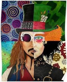 Johnny Depp Character Collage Posters Please visit my online portfolio http://www.artgallery.network