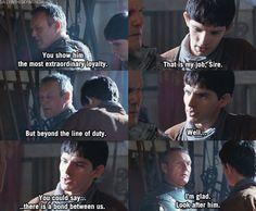Merlin season 1. Merlin's loyalty to Arthur