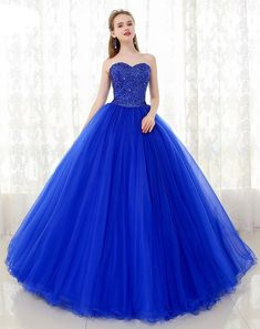 Pretty Quinceanera Dresses, Cute Prom Dresses, Beautiful Prom Dresses, Blue Wedding Dresses, Elegant Dresses, Pretty Dresses, Homecoming Dresses, Blue Ball Gowns, Ball Gowns Prom