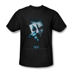 Batman Dark Knight Joker Holding Card Mens T-Shirt $23.99 (includes free U.S. shipping)