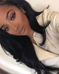 wedding makeup matte Trendy Wedding Makeup For Brown Eyes Matte Eyeliner - Black Girl Makeup, Girls Makeup, Maquillage Black, Matte Eye Makeup, No Eyeliner Makeup, Makeup Case, Wedding Makeup For Brown Eyes, Makeup On Brown Skin, Braut Make-up