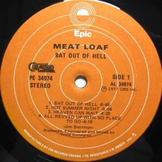 Meat Loaf - Bat Out Of Hell CANADA 1977 Lp near mint with InnerLyrics