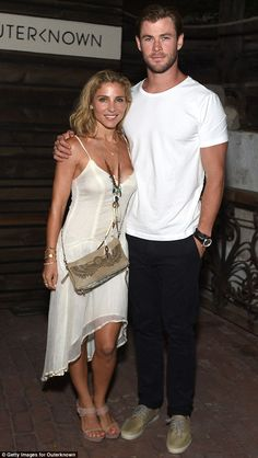 Chris Hemsworth and his gorgeous wife Elsa Pataky at Kelly Slater and John Moore's new sustainable clothing brand launch in Malibu on Saturday