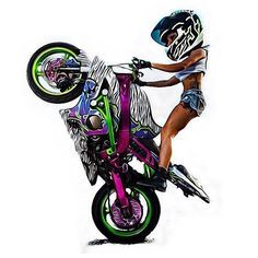 Motorcycle Stunt Names; The Big List. Moto Bike, Bike Art, Motorcycle Helmets, Stunt Bike, Bike Photography, Racing Helmets, Biker Girl, Bike Life, Sport Bikes
