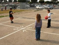 Loved four square.  The teachers at school would get quite determined on us doing it right . It was a great game - Maybe schools should start encouraging this type of thing and hopscotch etc rather than giving 8 years old laptops each