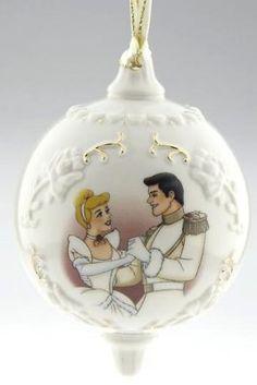 Cinderella & Prince Charming Victorian ornament. Christmas/winter wedding.
