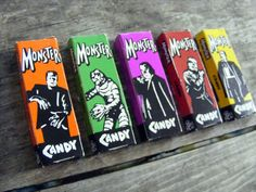 Monster Candy Stick Boxes / Creature from the by SpookyVintage, $10.00