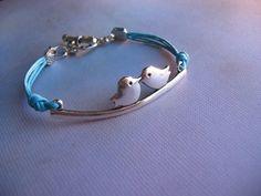 Love Birds Bracelet  Antiqued Silver Love by jingsbeadingworld, $14.00