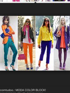 Orange/violet/vert