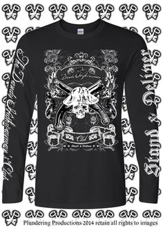 Men's The Dandy Highwayman's Club Long Sleeve Top by Plundering Productions on Etsy #Goth #Punk #AdamAnt #AlternativeGuy #AltGuy #AltModel