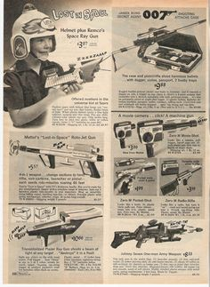 Sears Xmas catalog Pt.8:  From the 1966 Sears catalog... it was also a big year for James Bond 007 toys.  Being 12 years old in '66 (like me) was akin to being in Movie-TV-related toy heaven.