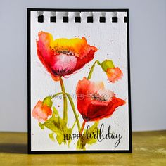 shirley-bee's stamping stuff: More Watercolour Poppies
