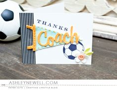 Project by Ashley Cannon Newell for Papertrey Ink - January 2016 - Thanks, Coach