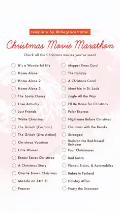 Christmas Templates TV Themed Templates Get to Know Me Templates Nostalgia Templates Gif Templates (for when they come back! Christmas Movies List, Christmas Mood, All Things Christmas, Holiday Fun, Best Holiday Movies, Christmas To Do List, Christmas Movie Night, Christmas Hacks, Christmas Activities