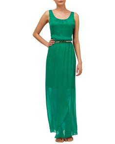 Maxi Dresses & Jumpsuits | Green Elsa Silk Maxi Dress | Phase Eight