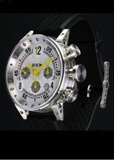 ffb6280df57d BRM Model from Watchpartners has a polished stainless steel case with black  dial and white decals and yellow hands. BRM Watches Replica ...