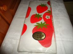 Vintage NOS NIP Hallmark Paper Party Table Cover. Strawberry Motif. USA.