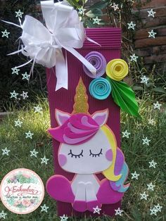 Unicorn Birthday Parties, Unicorn Party, Baby Unicorn, Diy And Crafts, Crafts For Kids, Paper Crafts, Unicorn Crafts, Valentine Box, Craft Party
