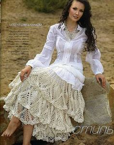 crocheted skirt.  WOW!!  Just wooow!!!